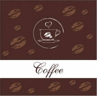 Free vector western menu background  coffe brown white smart food