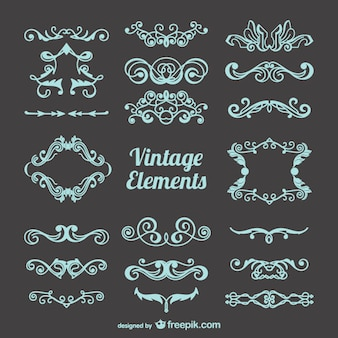 Free vintage decorations set