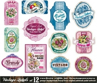 Free vintage pink old blue fashion green soft cute beautiful misc european classic bottle affixed  vector stick