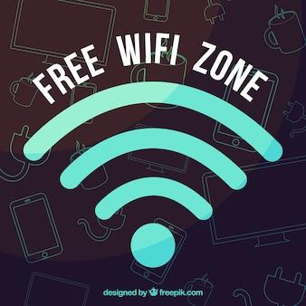 Free wifi background