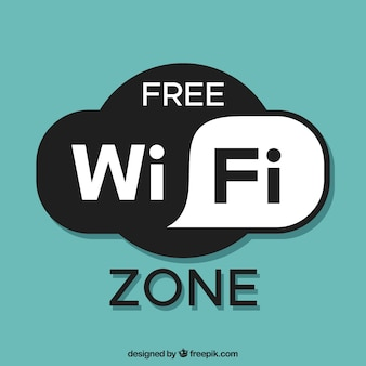 Free wifi zone background