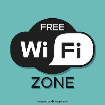 無料の無線LANゾーンの背景
