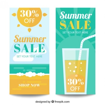 Fresh banners for summer sales