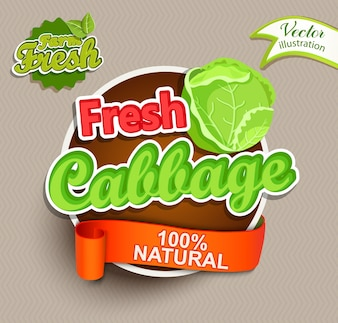 Fresh cabbage logo lettering.