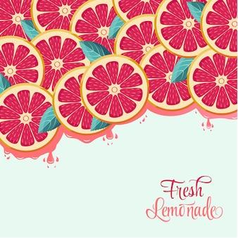 Fresh grapefruit background