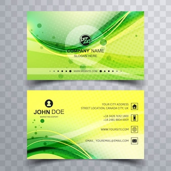 Fresh green business card