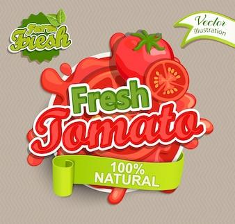 Свежий логотип томатов.