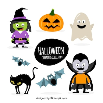 Friendly halloween characters