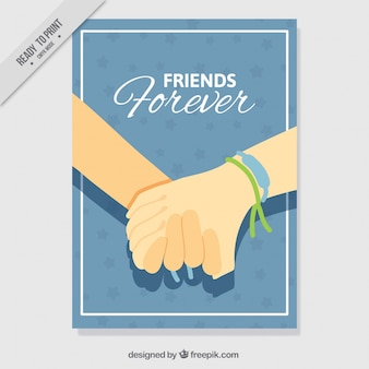 Friendship card holding hands