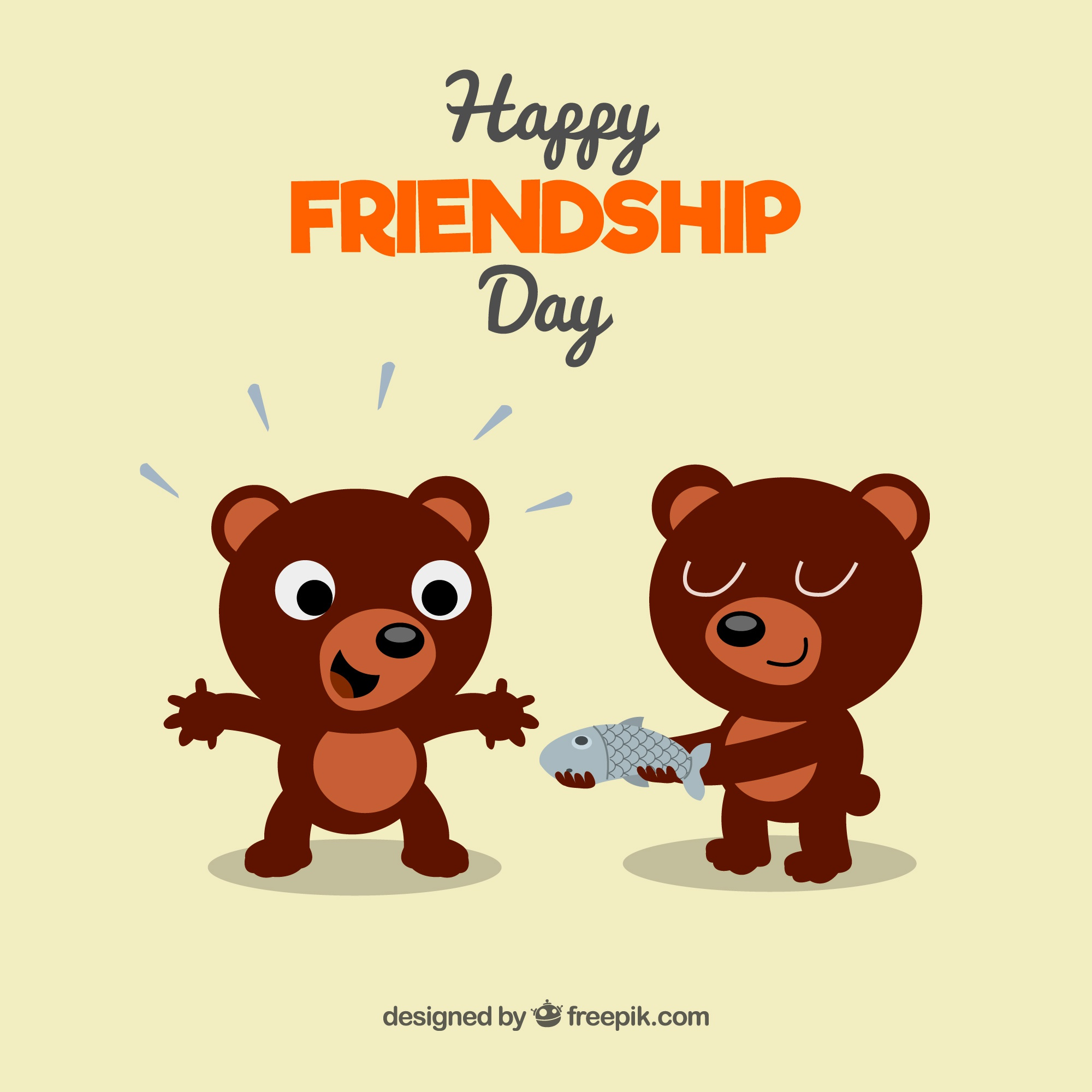 Friendship day background with bears