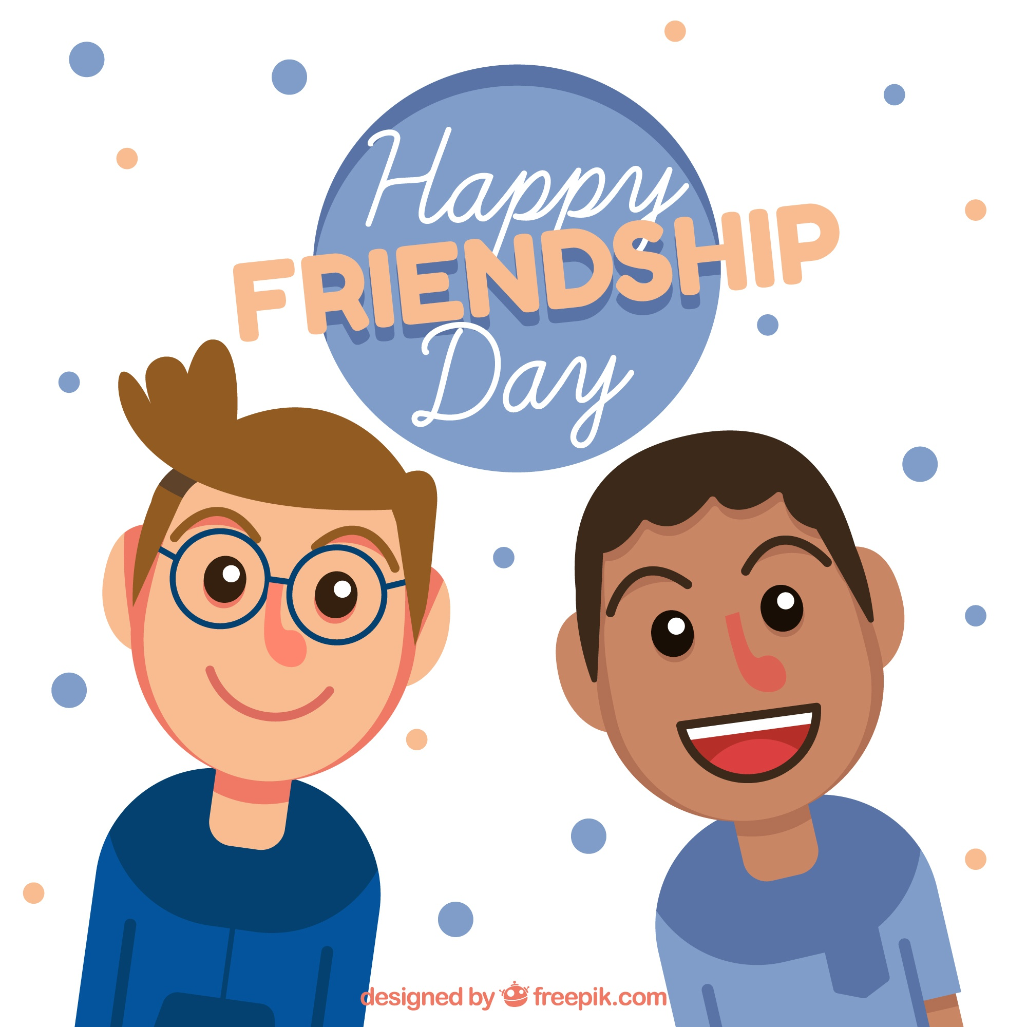 Friendship day background with two boys