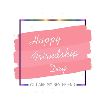 Friendship day card with colored frame