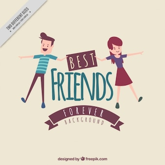 Friendship day vintage background