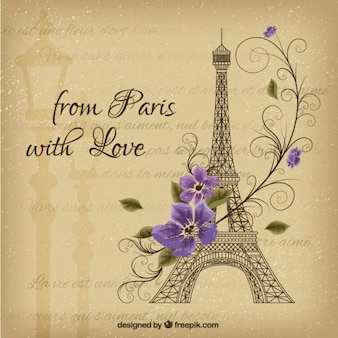 From paris with love, card