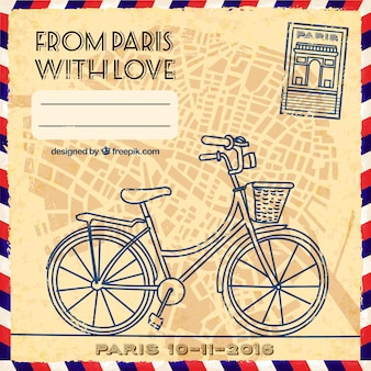 From Paris with love postcard
