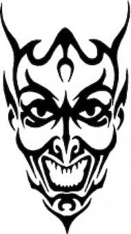 Front demon face