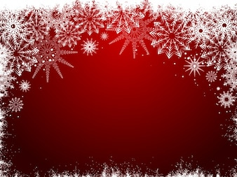 Frozen red christmas background