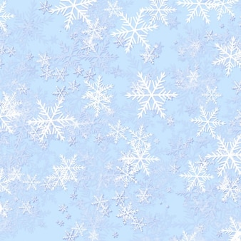 Frozen snowflake background