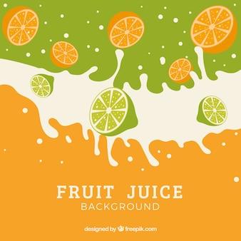 スイカのあるフルーツジュースの背景