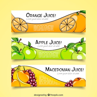 Fruit juice banner collection