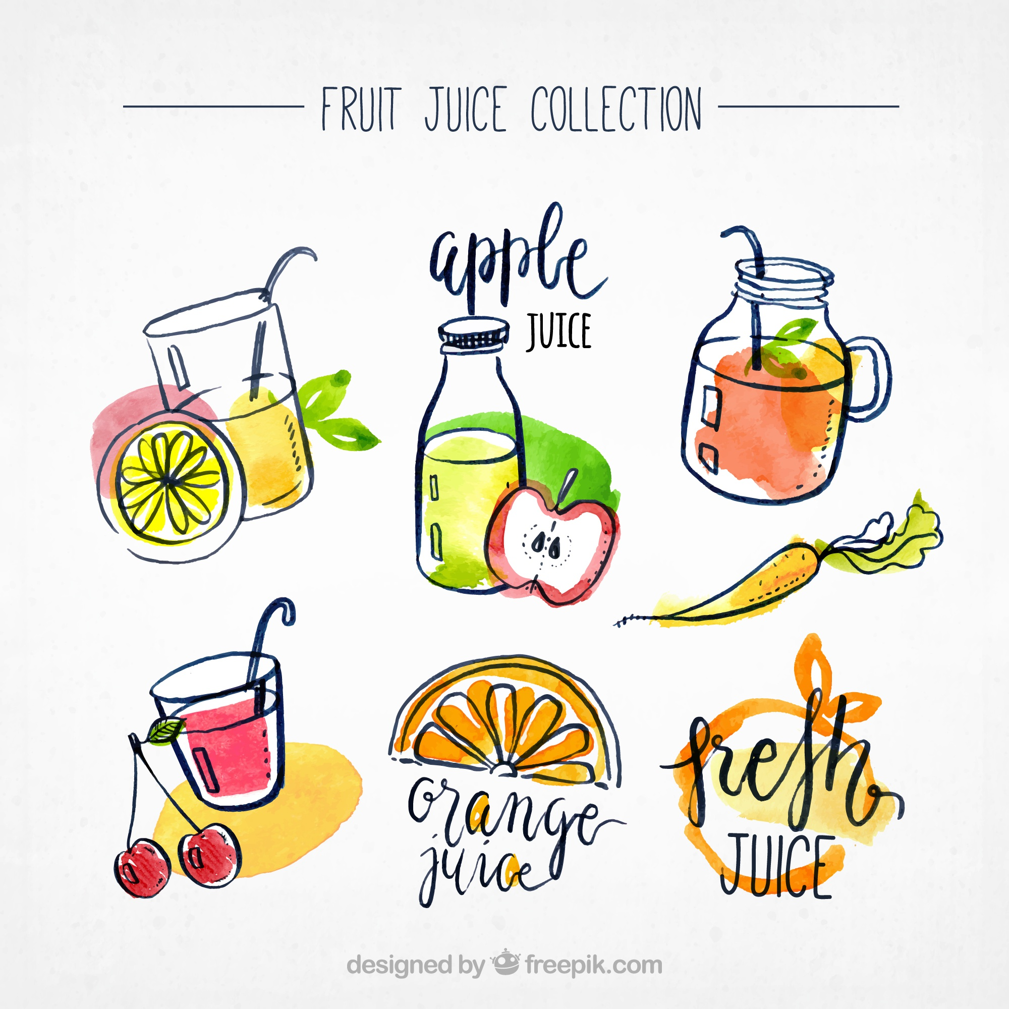 Fruit juice collection
