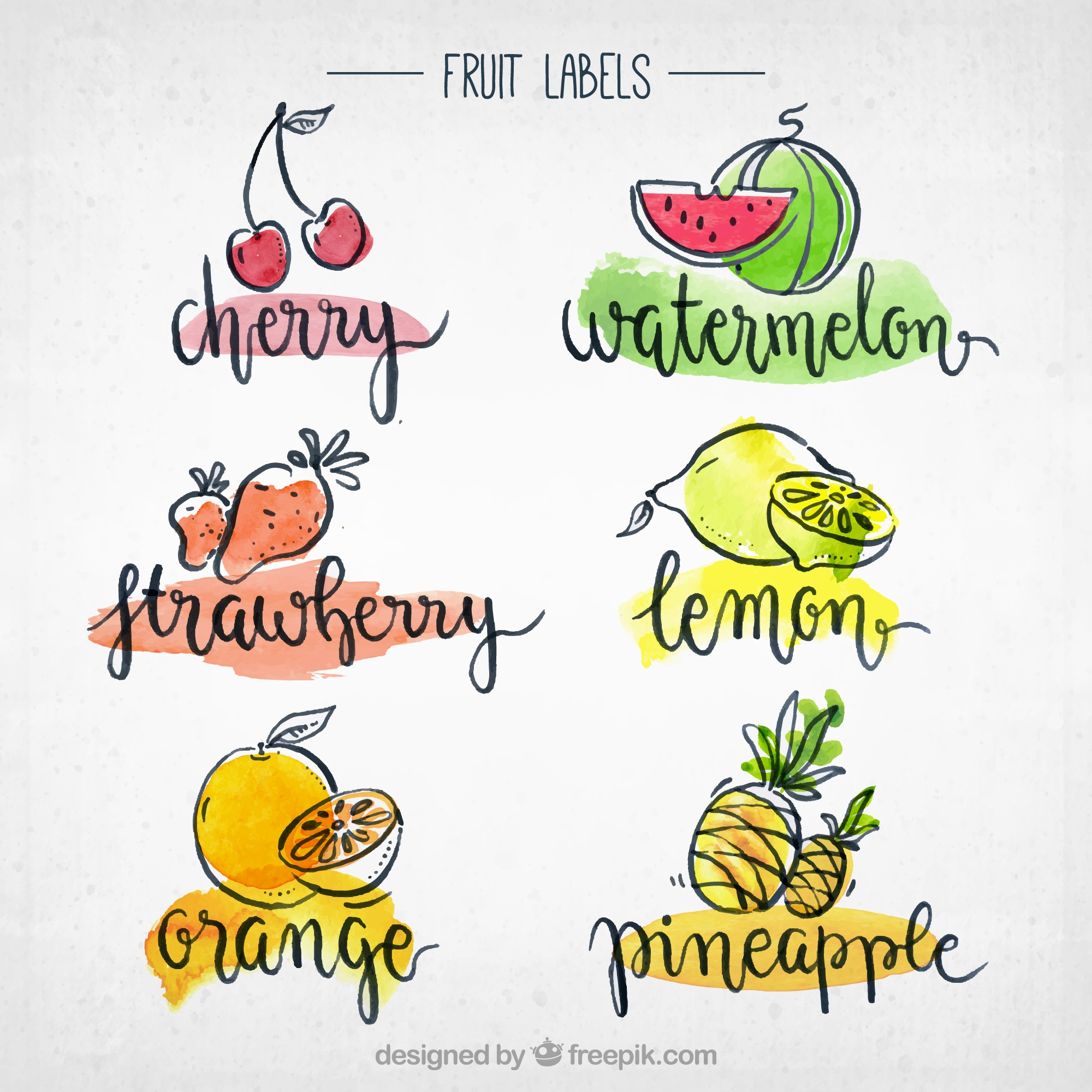 Fruit labels collection