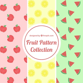 Fruit patterns in flat design