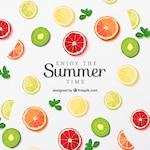 Fruit slices poster for summer