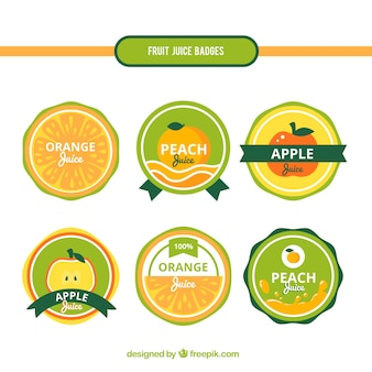 Fruit stickers in retro style