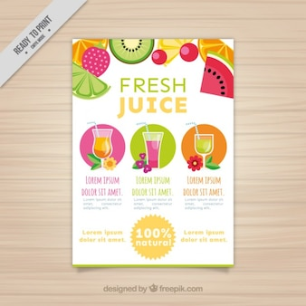 Fruits and juices flyer