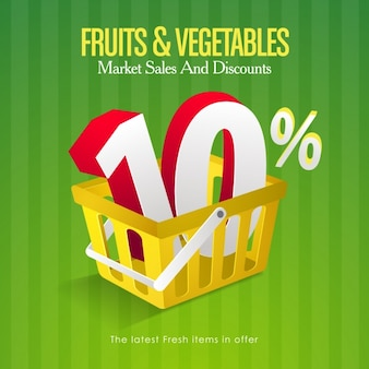 Fruits and vegetables sales background