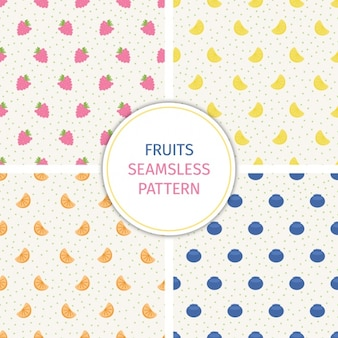 Fruits patterns collection