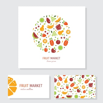 Frutal business stationery