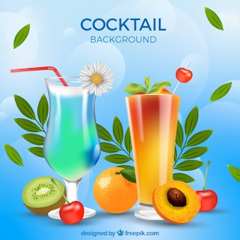 Fuit cocktails background