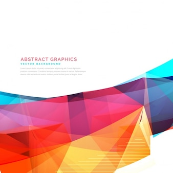 Full color background with polygonal shapes