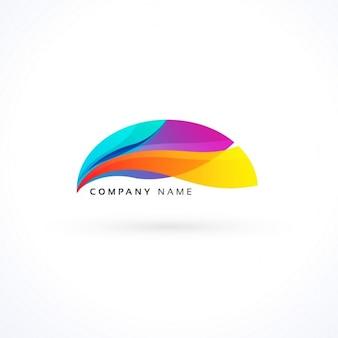 活気のある波状のロゴのコンセプト