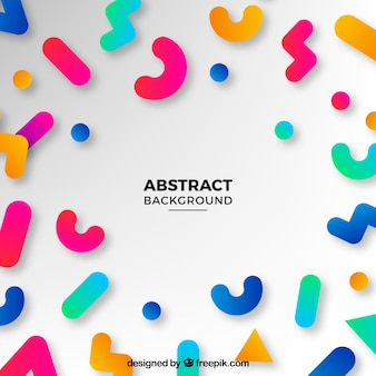 Fun background with abstract shapes