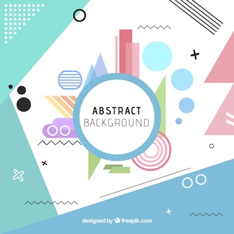 Fun background with abstract style