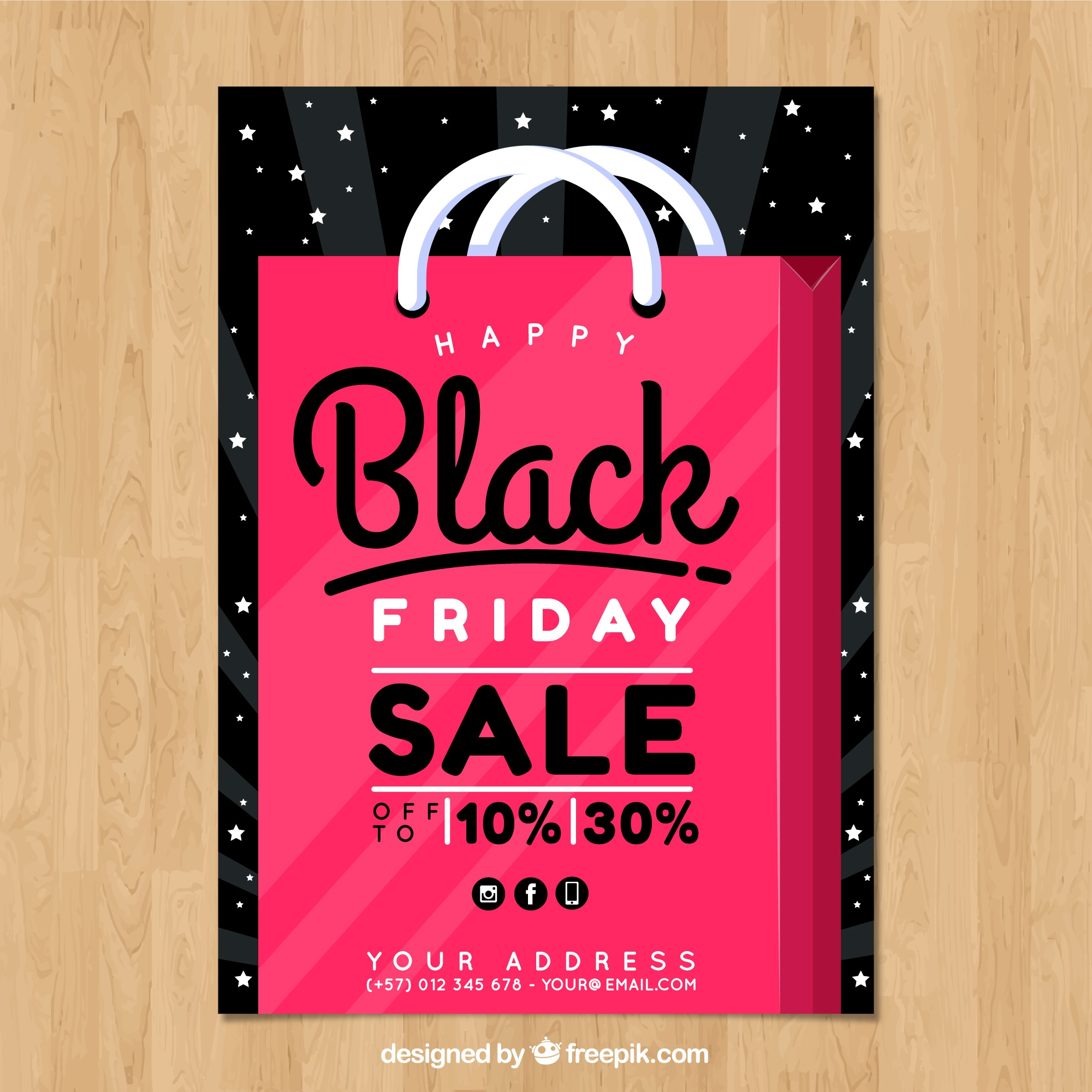 Fun black friday poster template