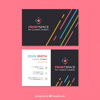 Fun business card template