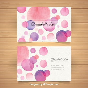 Fun business card with watercolor style