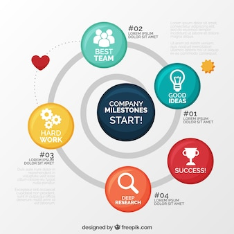 Fun business infographic with circles