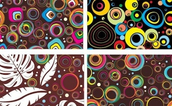fun colorful circles background vector