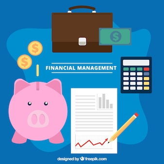 Fun finance concept with lovely elements