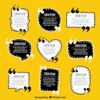 Fun hand drawn quote templates