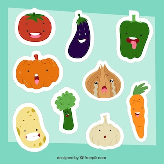 Fun healthy food sticker collection