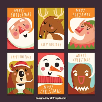 Fun pack of christmas cards