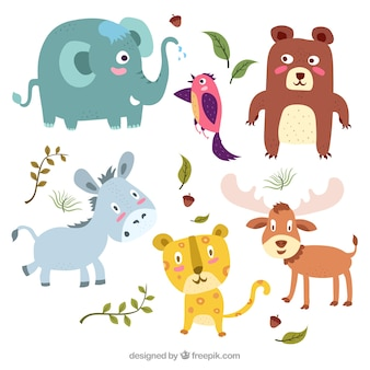 Fun pack of colorful animals