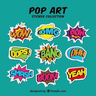 Fun pack of comic onomatopeias