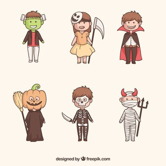 Fun pack of creepy halloween kids